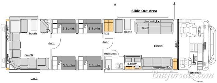 prevost bus floor plans ahomeplan com country coach allure floor plan free home design ideas