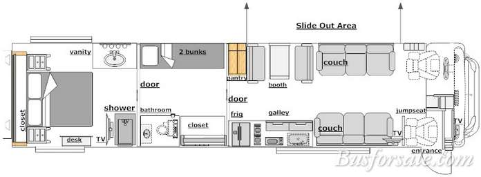 Innovative Rv Interior Layout Motorhome And Rv Rental America  Tucana Rv
